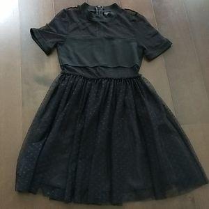 Topshop black polka dot dress